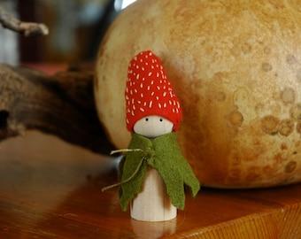 Strawberry peg doll