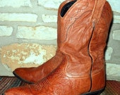 Sale Tony Lama Tan Cowgirl Western Slouch Boots size 7 M