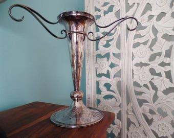 WALKER HALL Sheffield Silver Plate Vase Vintage Home Decor