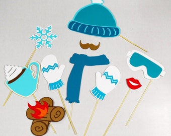 Winter photo booth props * 10 piece*