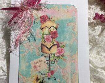 Shabby Chic Mannequin Notecard Set, Postcards, Stationery, Scrapbooks, Journals, Gift Items, Greeting Cards