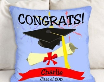 Personalized Graduation Congrats Throw Pillow -gfy83028273WB14