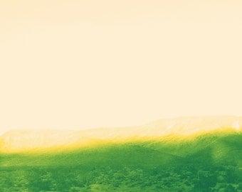 Minimalist Abstract Desert Landscape, Modern Wall Art, Minimal Decor, Modern Abstract, Minimalist, Hotel, Interior Design, Pink Sky, Green
