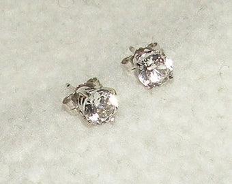 14k-2tcw Genuine White Sapphire Earrings