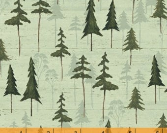 Wild Woods - Sage Tree Forest by Daphne B from Windham Fabrics