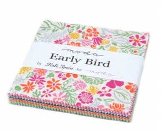 Early Bird Charm Pack - 42 Five Inch Squares by Kate Spain from Moda