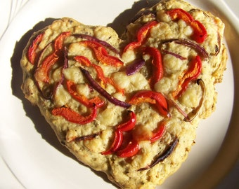 Rosemary Focaccia Artisan Bread Mix - Organic DIY Valentine Heart Bread Mix - LOVE - Sweet Peppers & Garlic Bread Mix - Pizza Crust Mix