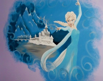 Estimate for a Frozen theme mural