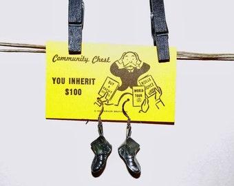 Monopoly Game Token Earrings