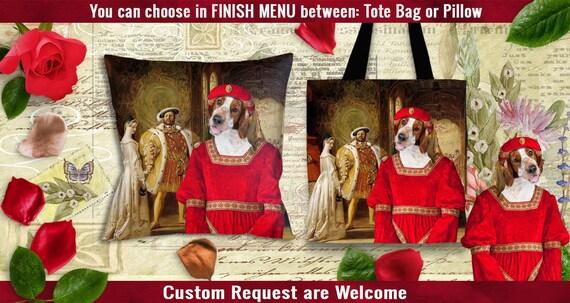 Welsh Springer Spaniel Pillow or Tote Bag.Welsh Springer Spaniel Art.Dog Tote Bag.Dog Pillow.Custom Dog Pillow or Tote Bag.Personalized Dog.