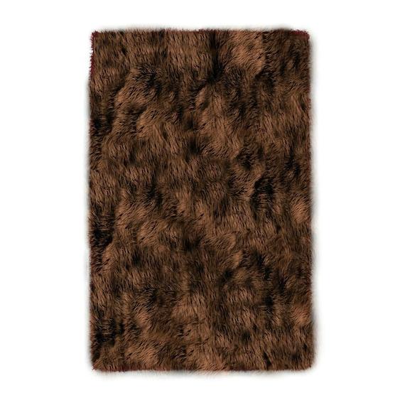 Shaggy Chocolate Rug by Fabulessfabrics