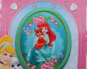 Disney Iron-on Embroidered Patch Princess Ariel Palace Pets