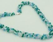 Ocean Blue Spiral Necklace: Reserved listing for DIANNA