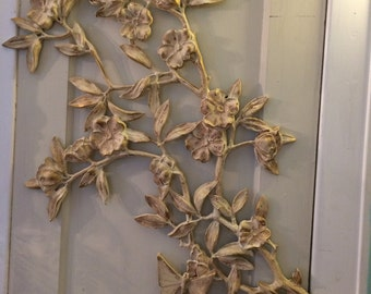 French Country wall flower hanging, floral spray, Wall art