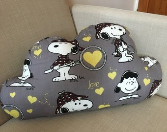 Snoopy cloud cushion // ready to ship