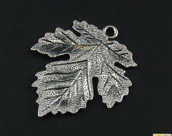 10Pcs Antique Silver Maple Leaf Charm Maple Leaf Pendant 37x33mm (PND1547)