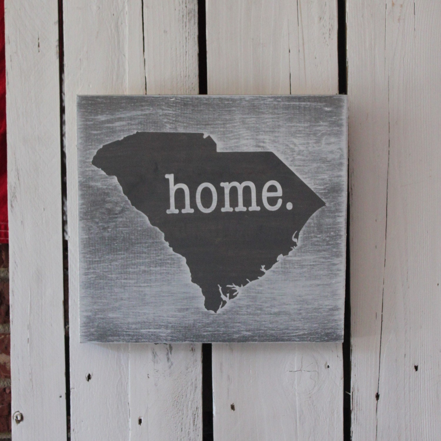 home. State Wall Art Solid Pine Sign