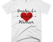 Grandpa of a Heart Warrior Shirt - Choose Color