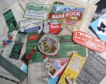 Vintage Ephemera Pack, 200+ Pieces for Art/Scrapbooking/Journaling