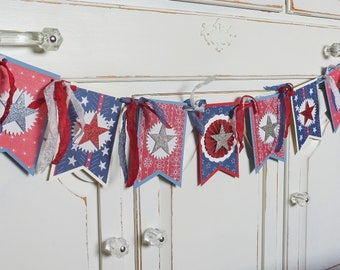 Patriotic STAR Banner ~ Flag Day ~ 4th of July Decoration - Photo Prop ~Party ~ Summer Celebration ~ Red, White, Blue