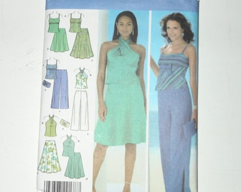 Simplicity 2005 Misses Evening Skirt In Two Lengths, Pants, Tops And Purse Uncut Sizes 12 14 16 18 Pattern Number 4525