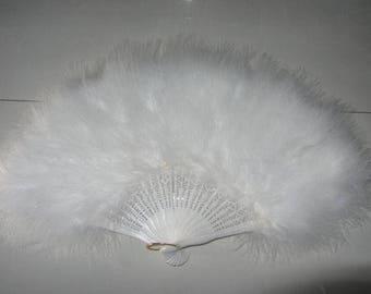 80*45cm Large  Burlesque Fan Dance  feather fan Bridal Bouquet Party Dance Fan Showgirl Large Fan White
