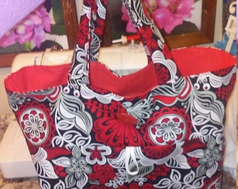 Large roll up reusable washable grocery bag