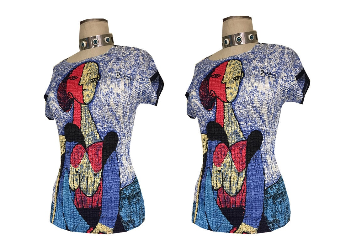 Picasso Valentina Stretchy 90's Elastic Abstract Artist Shirt