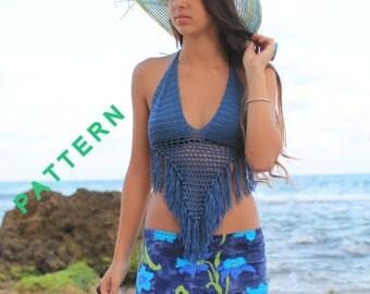 Bikini top pattern Halter top pattern Halter bikini top Crochet bikini pattern