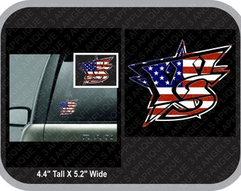 Wichita Sluggers American Flag Window Decal