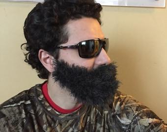 Handmade Crochet Beard Only, dettached beard, fuzzy Beard, choose any color you like, gray beard, dark gray beard, old beard, grey beard,
