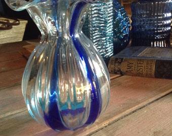 Lovely vintage handblown glass vase