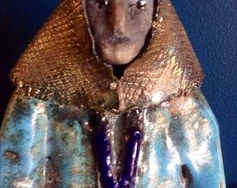 Handmade ceramic gypsy woman
