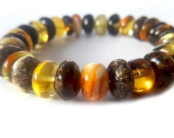 Bracelet him,her, Black bracelet, Baltic Amber Bracelet Adult