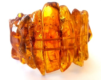 Red Baltic Amber Bracelet, gift for her