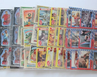 Vintage Garbage Pail Kids, Rocky II, Alf, Superman & More Trading Cards Lot of 207