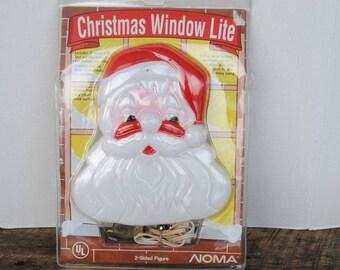 1991 Noma Santa Claus Christmas WIndow Lite