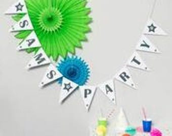 Personalised Party Bunting // Party Decoration // Birthday Party Bunting