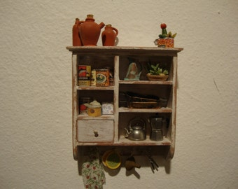 dollhouse  miniature wall cabinet Kitchen