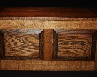 """Stained Oak - Hope Chest - Blanket Chest - Toy Chest - Toy Box - Trunk - Furniture - Large - 33"""" Long x 16-1/2"""" Wide x 15-15/16"""" High"""
