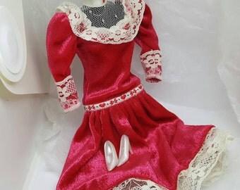 Barbie Valentine dress   Barbie fashion Outfit 11 inch dolls Sweetheart Dance