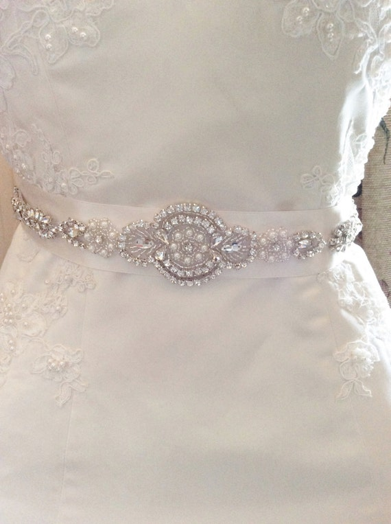 Bridal Belt Wedding Dress Sash Rhinestone Pearl Bridal Belt