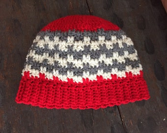 Checkered skull cap beanie hat all sizes