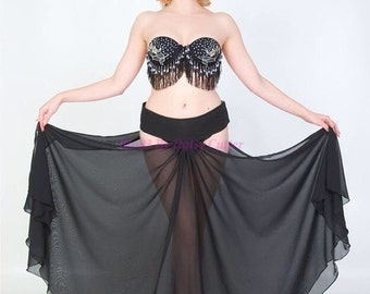 Panel skirt bump 'n' grind vintage burlesque style