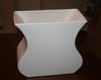 Vintage Haeger Pottery Large Off White Ivory Vase Planter