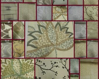 Barbara Barry  Fabric Sample Book - IndoChine -Silver-Lotus-58pcs-