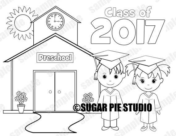 coloring pages for preschool graduation - photo#21