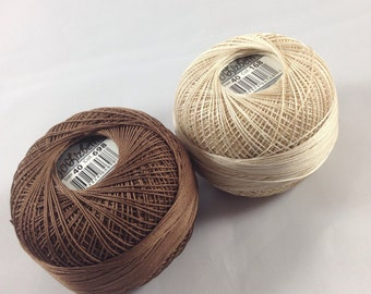 Lizbeth Tatting Thread - Fudge Latte Coordinating TWO Pack (Colors 168 and 698) - Size 40 - Handy Hands - Your Choice of Amount