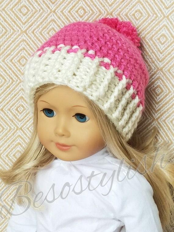 Crochet Pattern Doll Beanie Doll Hat 18 Inch Doll Crochet