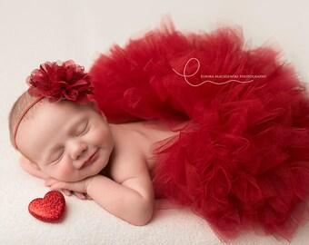 Baby Tutu And Headband Newborn Tutu Baby Girl Tutu Baby Tutus Baby Girl Tutus Newborn Tutus Baby Girl Tutu Outfit Cranberry Tutu Red Tutus